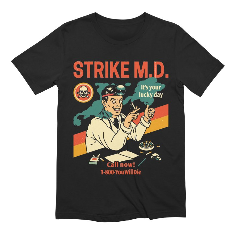 Strike M.D Men's Extra Soft T-Shirt by Santiago Sarquis's Artist Shop