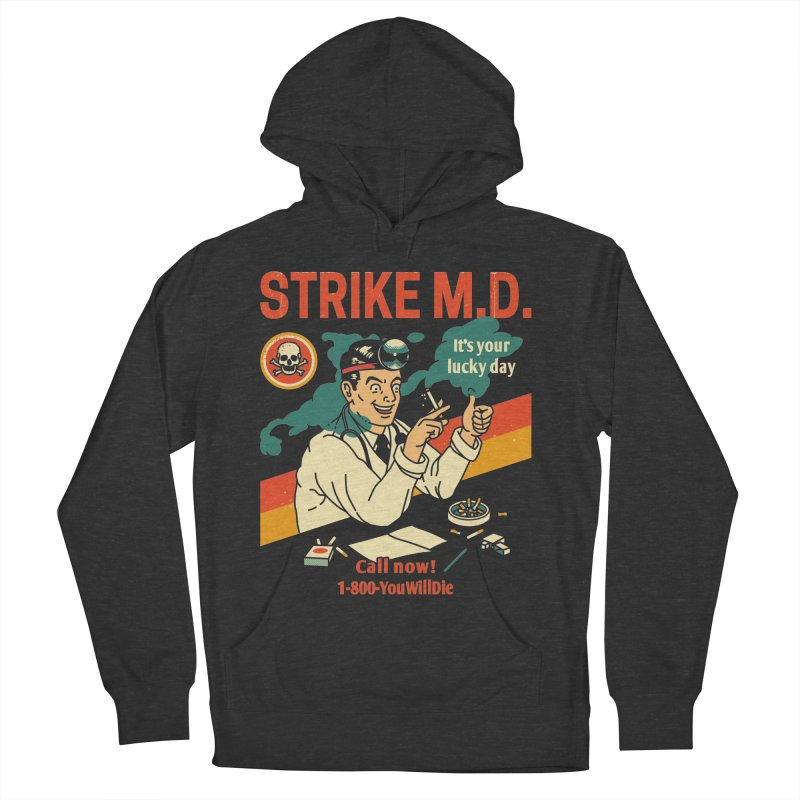 Strike M.D Men's French Terry Pullover Hoody by Santiago Sarquis's Artist Shop