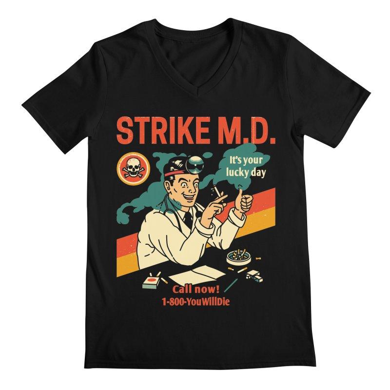 Strike M.D Men's Regular V-Neck by Santiago Sarquis's Artist Shop