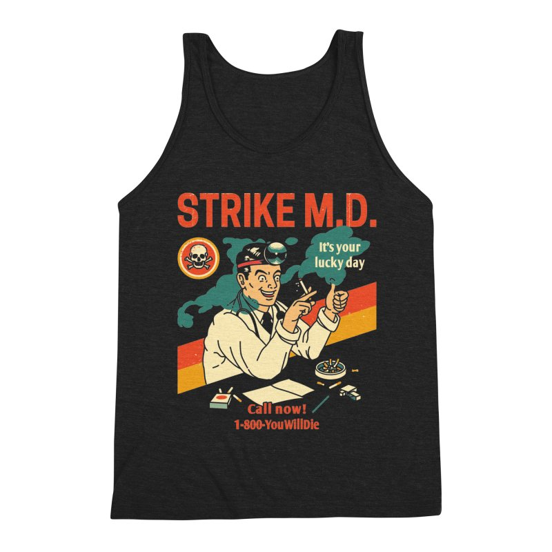 Strike M.D Men's Triblend Tank by Santiago Sarquis's Artist Shop