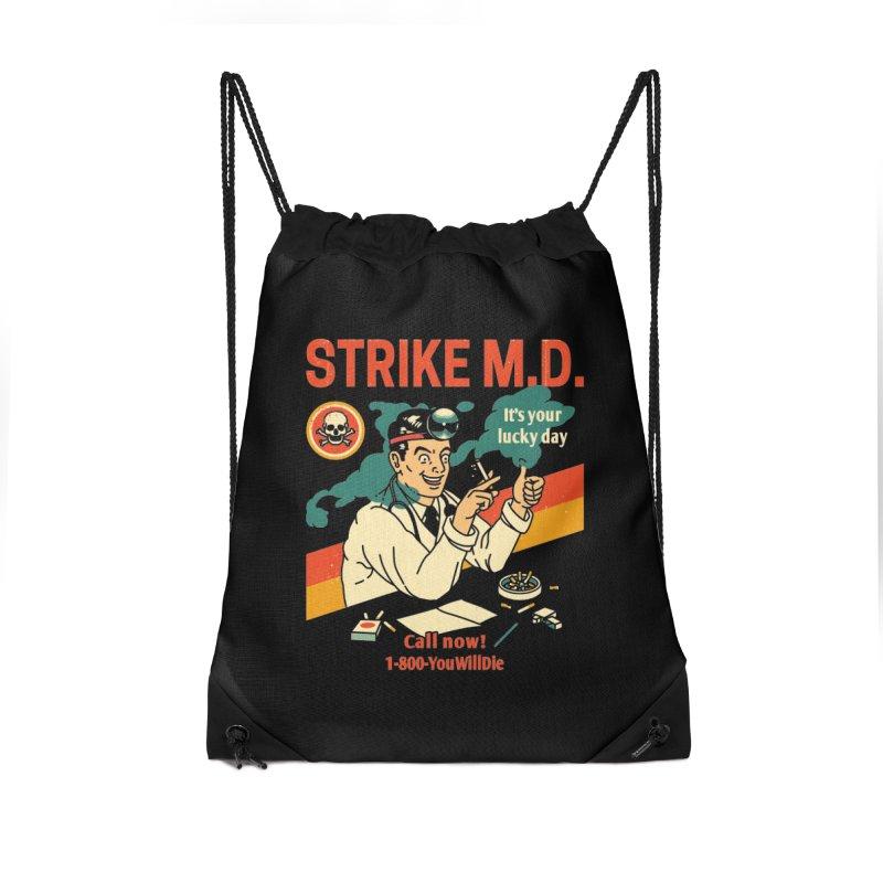 Strike M.D Accessories Drawstring Bag Bag by Santiago Sarquis's Artist Shop