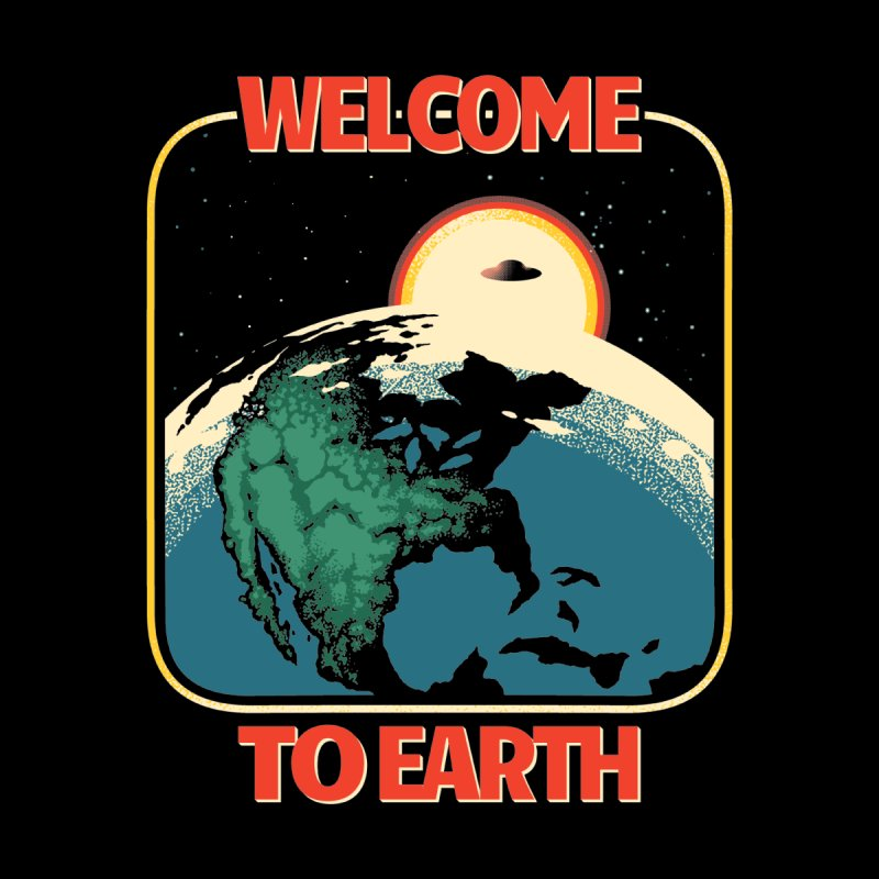 Welcome to Earth Kids Longsleeve T-Shirt by Santiago Sarquis's Artist Shop