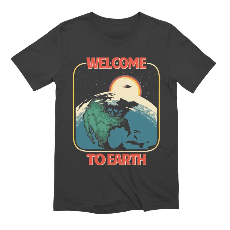 Welcome to Earth Men's Extra Soft T-Shirt by Santiago Sarquis's Artist Shop