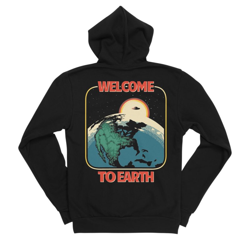Welcome to Earth Women's Zip-Up Hoody by Santiago Sarquis's Artist Shop