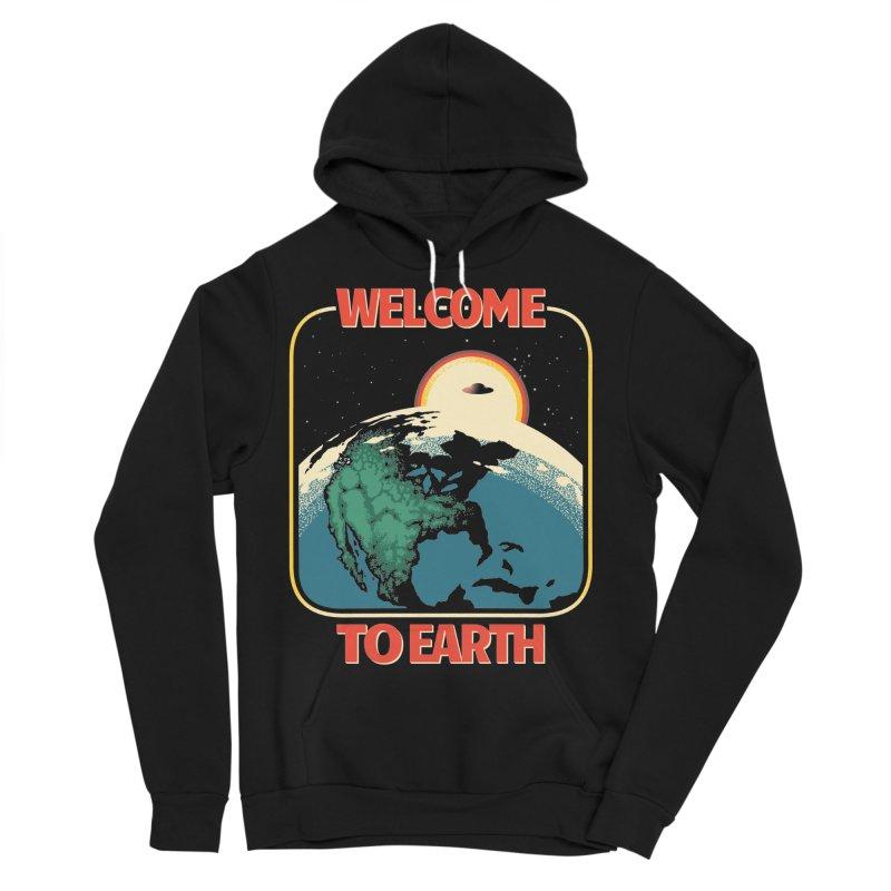 Welcome to Earth Men's Sponge Fleece Pullover Hoody by Santiago Sarquis's Artist Shop