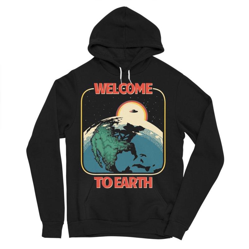Welcome to Earth Women's Sponge Fleece Pullover Hoody by Santiago Sarquis's Artist Shop