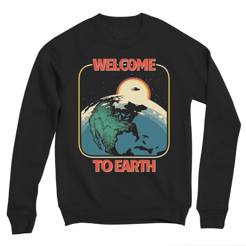Welcome to Earth Men's Sponge Fleece Sweatshirt by Santiago Sarquis's Artist Shop