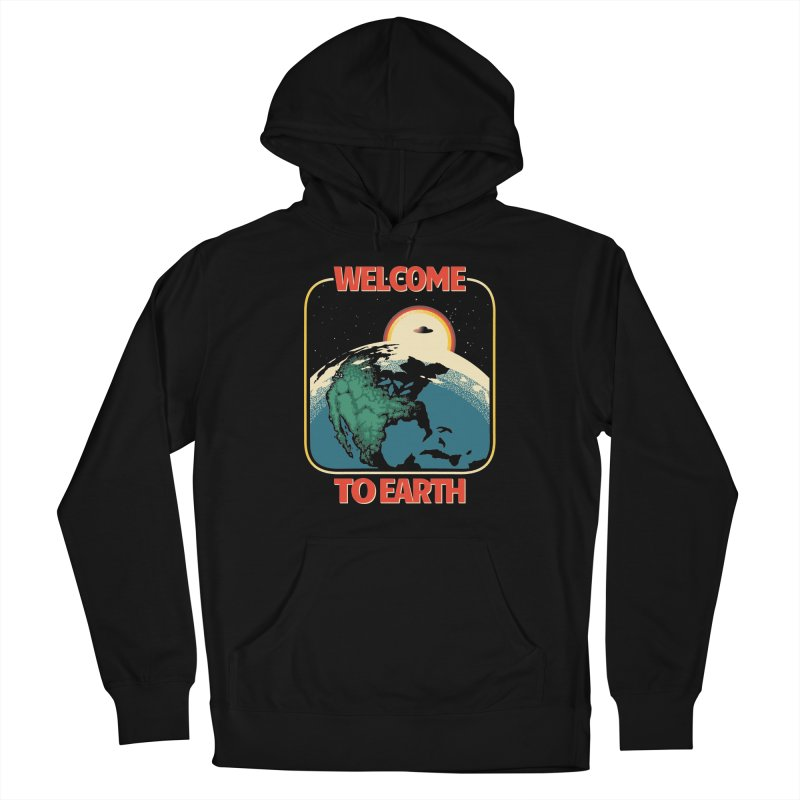 Welcome to Earth Women's French Terry Pullover Hoody by Santiago Sarquis's Artist Shop