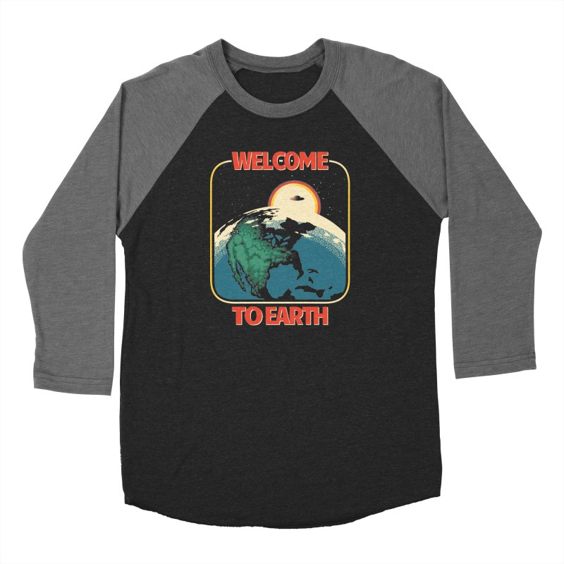 Welcome to Earth Women's Baseball Triblend Longsleeve T-Shirt by Santiago Sarquis's Artist Shop