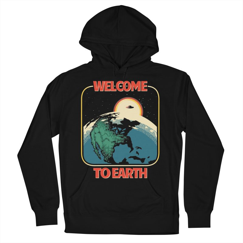 Welcome to Earth Men's French Terry Pullover Hoody by Santiago Sarquis's Artist Shop