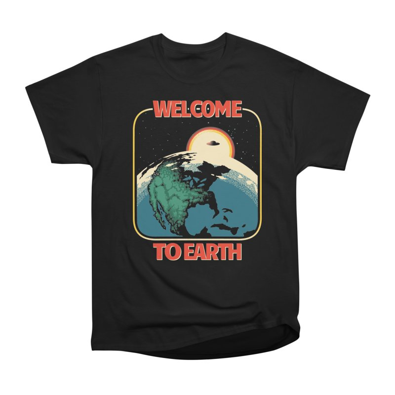 Welcome to Earth Men's Heavyweight T-Shirt by Santiago Sarquis's Artist Shop