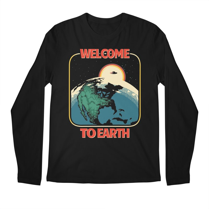 Welcome to Earth Men's Regular Longsleeve T-Shirt by Santiago Sarquis's Artist Shop
