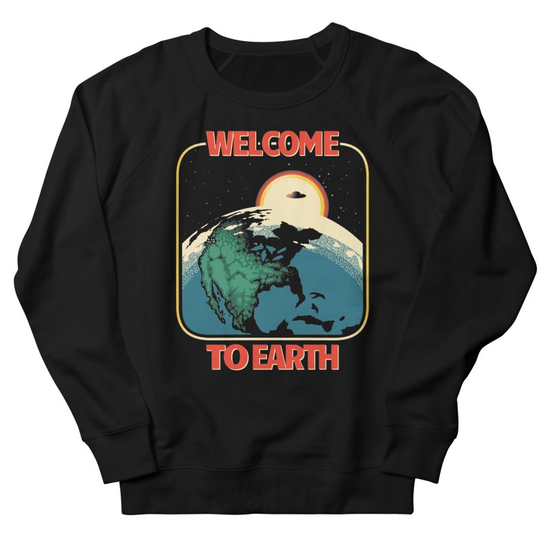 Welcome to Earth Men's French Terry Sweatshirt by Santiago Sarquis's Artist Shop