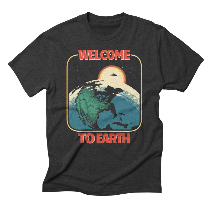 Welcome to Earth Men's Triblend T-Shirt by Santiago Sarquis's Artist Shop