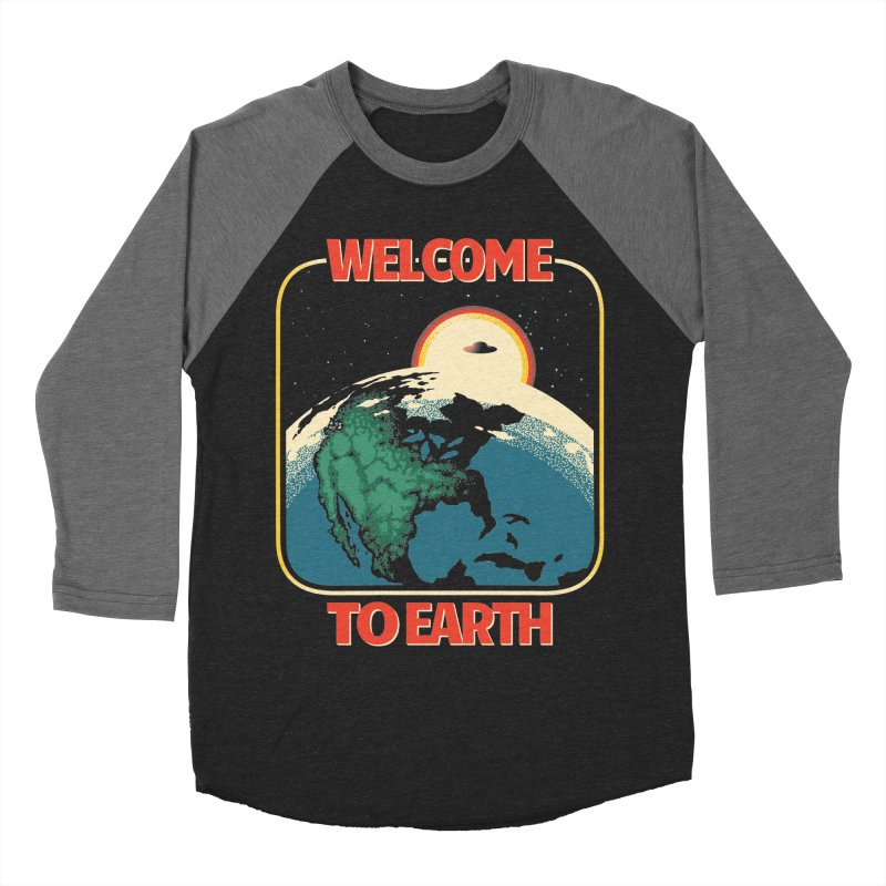 Welcome to Earth Men's Baseball Triblend Longsleeve T-Shirt by Santiago Sarquis's Artist Shop