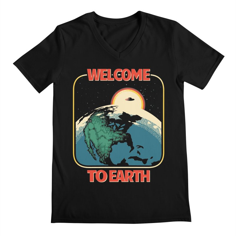 Welcome to Earth Men's Regular V-Neck by Santiago Sarquis's Artist Shop