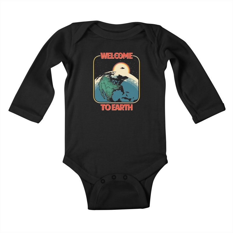 Welcome to Earth Kids Baby Longsleeve Bodysuit by Santiago Sarquis's Artist Shop