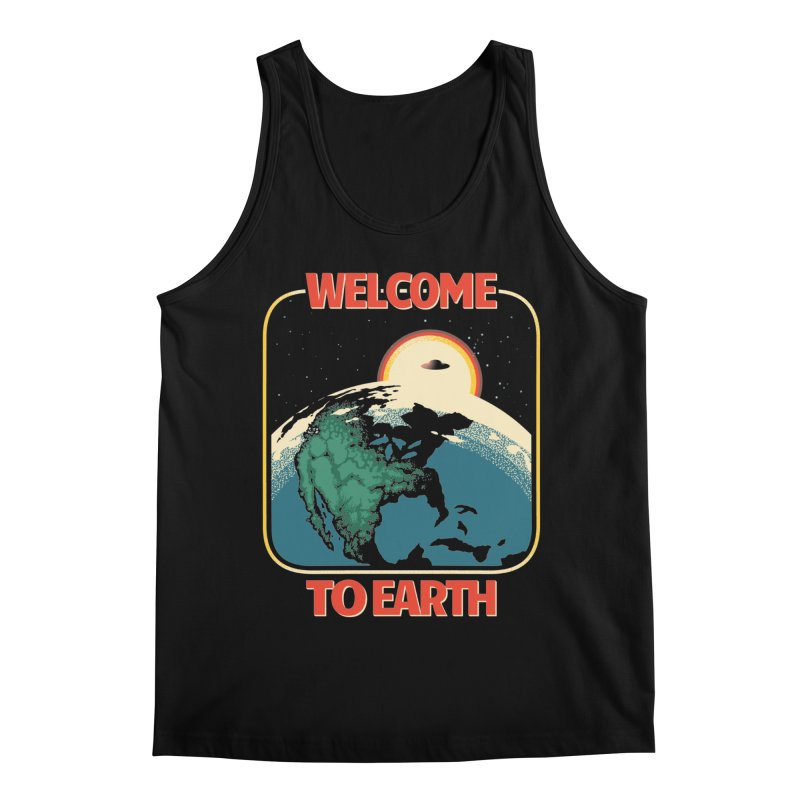 Welcome to Earth Men's Regular Tank by Santiago Sarquis's Artist Shop