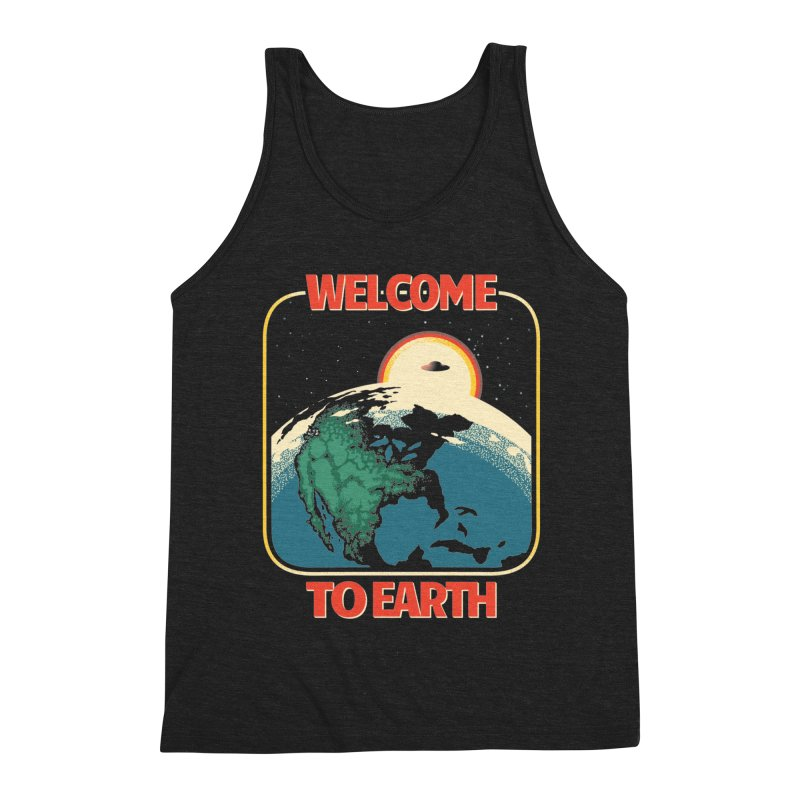 Welcome to Earth Men's Triblend Tank by Santiago Sarquis's Artist Shop