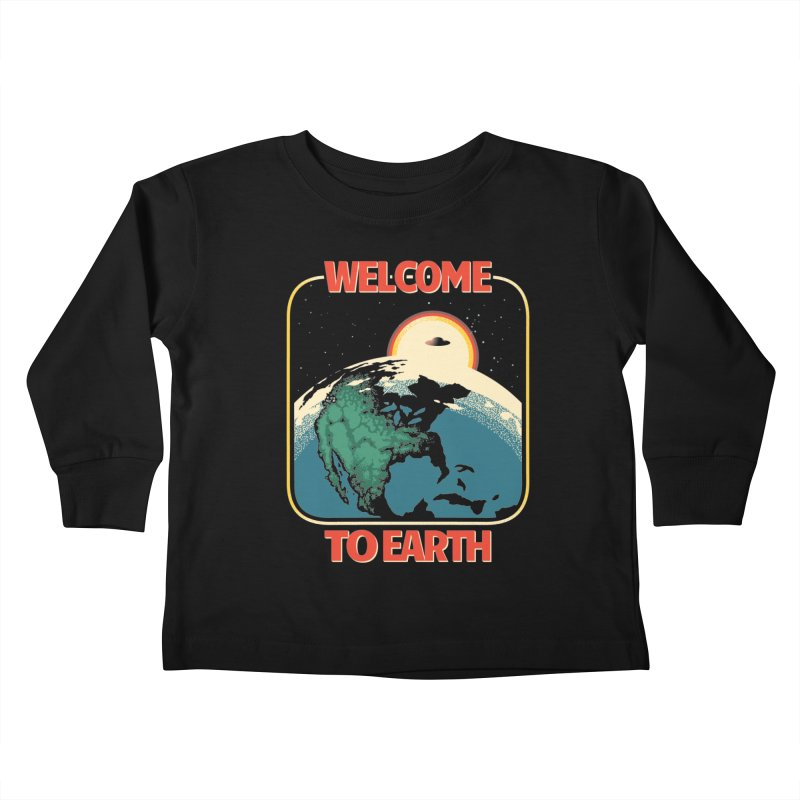 Welcome to Earth Kids Toddler Longsleeve T-Shirt by Santiago Sarquis's Artist Shop