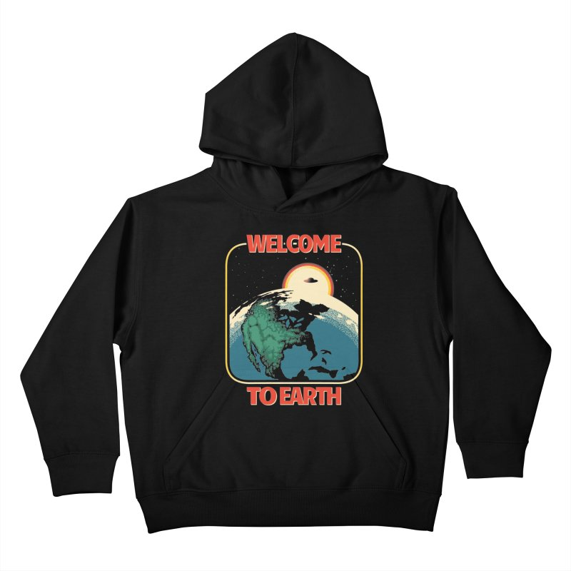 Welcome to Earth Kids Pullover Hoody by Santiago Sarquis's Artist Shop