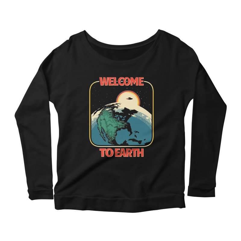 Welcome to Earth Women's Scoop Neck Longsleeve T-Shirt by Santiago Sarquis's Artist Shop