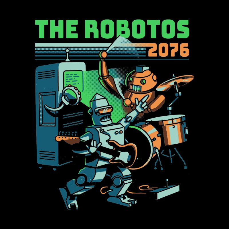 The Robotos Men's V-Neck by Santiago Sarquis's Artist Shop