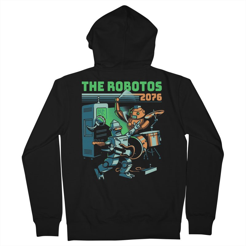 The Robotos Men's French Terry Zip-Up Hoody by Santiago Sarquis's Artist Shop