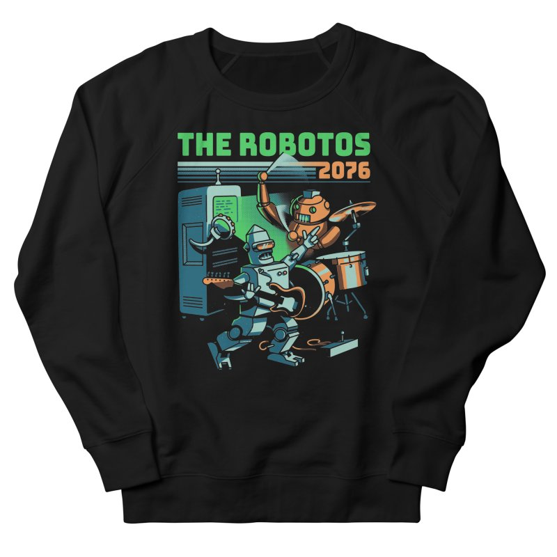 The Robotos Men's French Terry Sweatshirt by Santiago Sarquis's Artist Shop