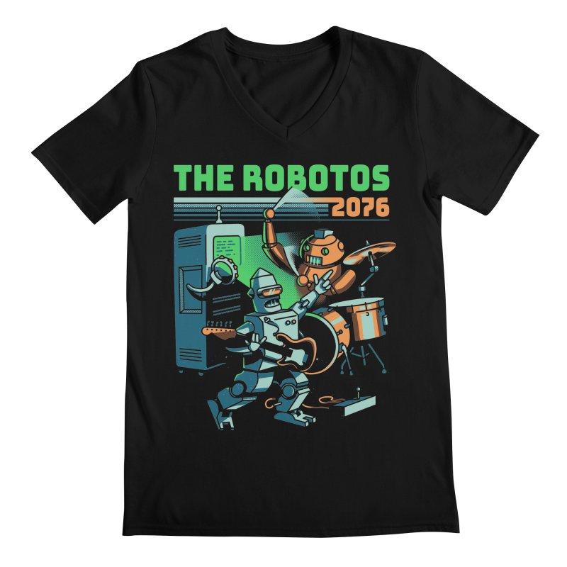 The Robotos Men's Regular V-Neck by Santiago Sarquis's Artist Shop