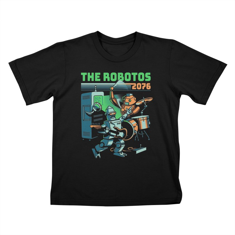 The Robotos Kids T-Shirt by Santiago Sarquis's Artist Shop