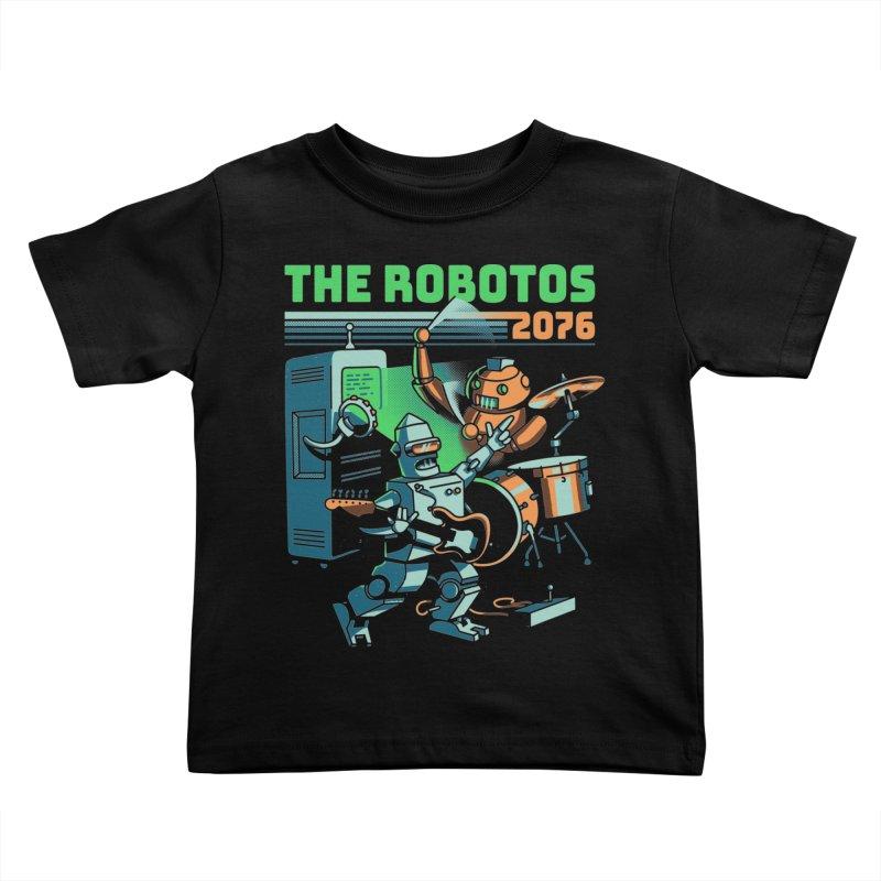 The Robotos Kids Toddler T-Shirt by Santiago Sarquis's Artist Shop
