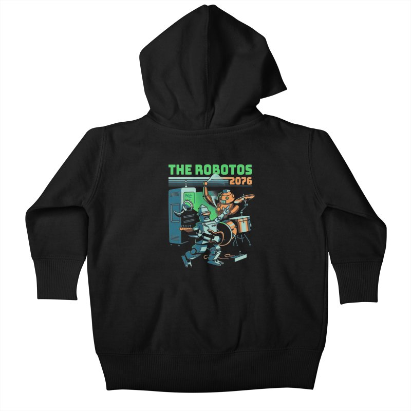 The Robotos Kids Baby Zip-Up Hoody by Santiago Sarquis's Artist Shop