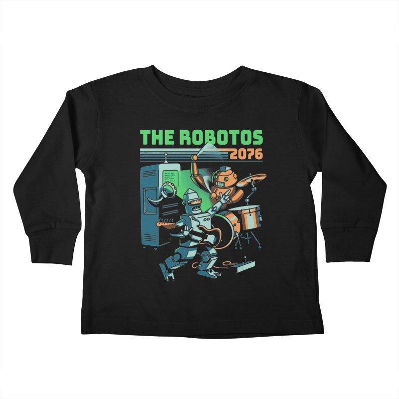 The Robotos Kids Toddler Longsleeve T-Shirt by Santiago Sarquis's Artist Shop