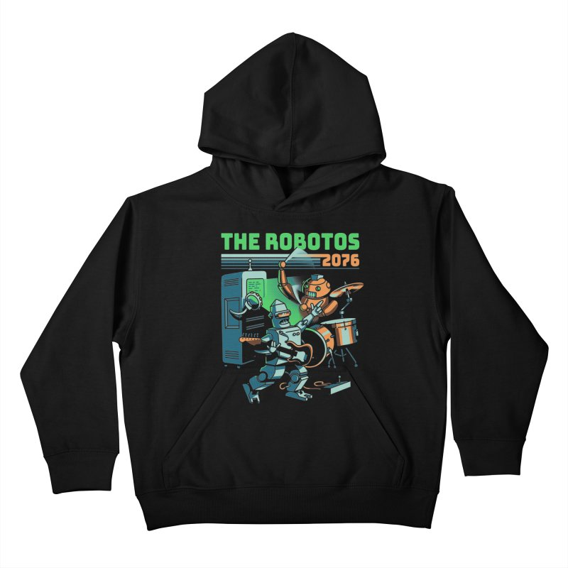 The Robotos Kids Pullover Hoody by Santiago Sarquis's Artist Shop