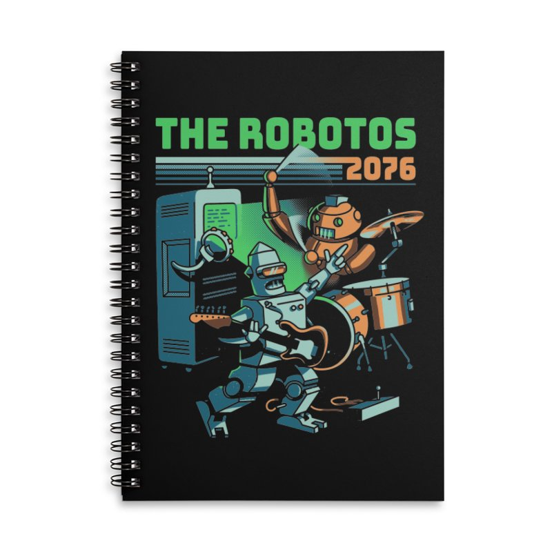 The Robotos Accessories Lined Spiral Notebook by Santiago Sarquis's Artist Shop