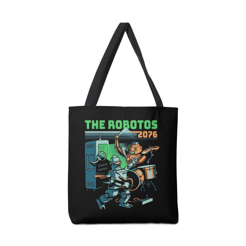 The Robotos Accessories Tote Bag Bag by Santiago Sarquis's Artist Shop