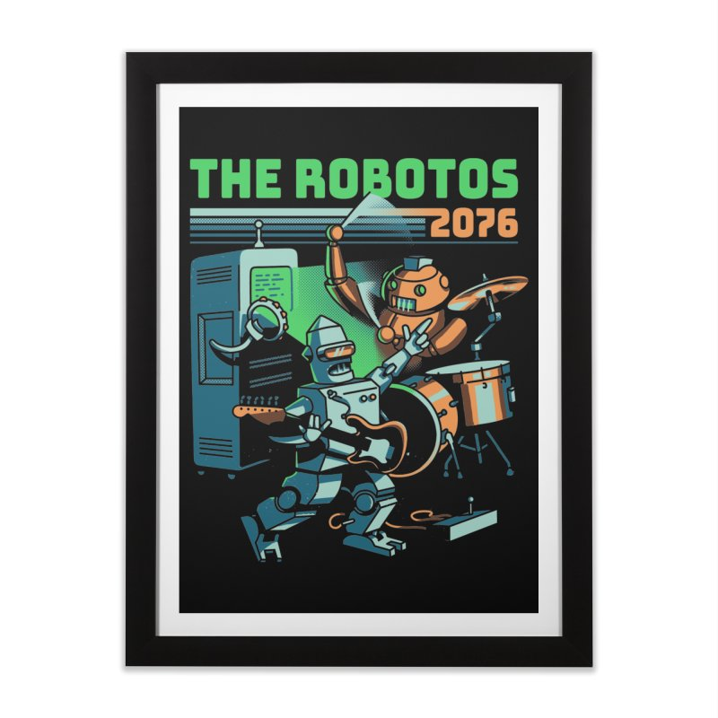 The Robotos Home Framed Fine Art Print by Santiago Sarquis's Artist Shop