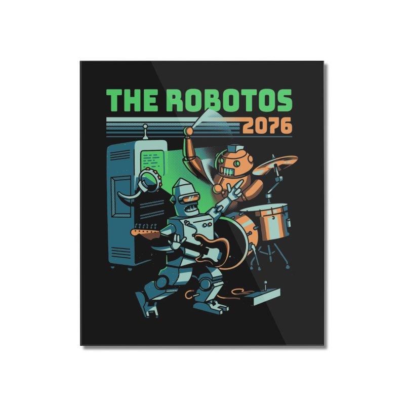 The Robotos Home Mounted Acrylic Print by Santiago Sarquis's Artist Shop