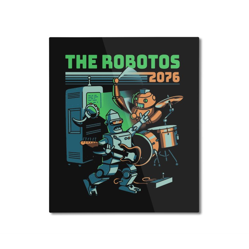 The Robotos Home Mounted Aluminum Print by Santiago Sarquis's Artist Shop