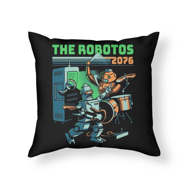 The Robotos Home Throw Pillow by Santiago Sarquis's Artist Shop