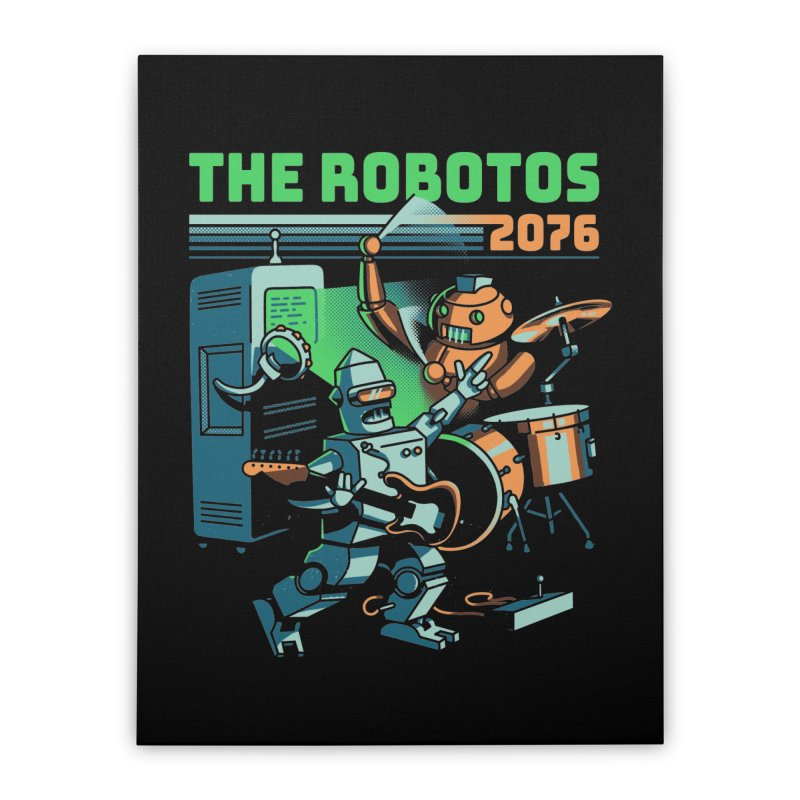 The Robotos Home Stretched Canvas by Santiago Sarquis's Artist Shop