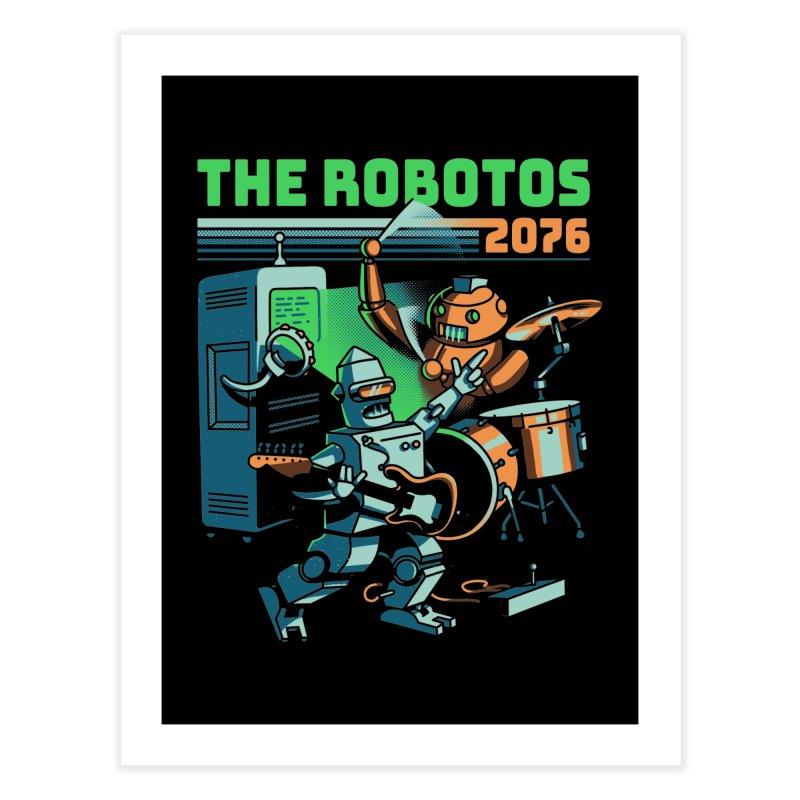The Robotos Home Fine Art Print by Santiago Sarquis's Artist Shop