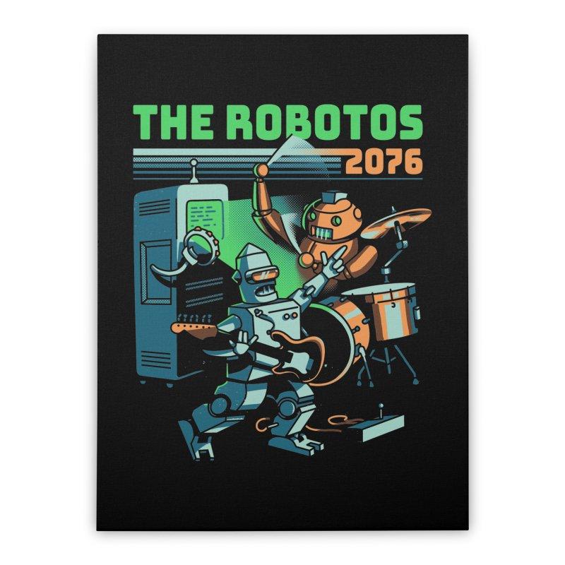 The Robotos Home Stretched Canvas by Santiago Sarquis's Artist Shop