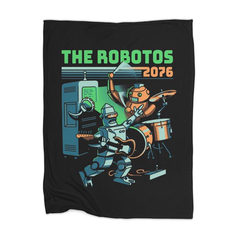 The Robotos Home Blanket by Santiago Sarquis's Artist Shop