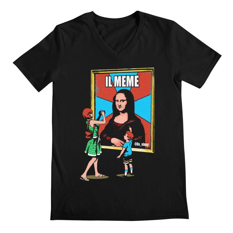 Il Meme Men's Regular V-Neck by Santiago Sarquis's Artist Shop