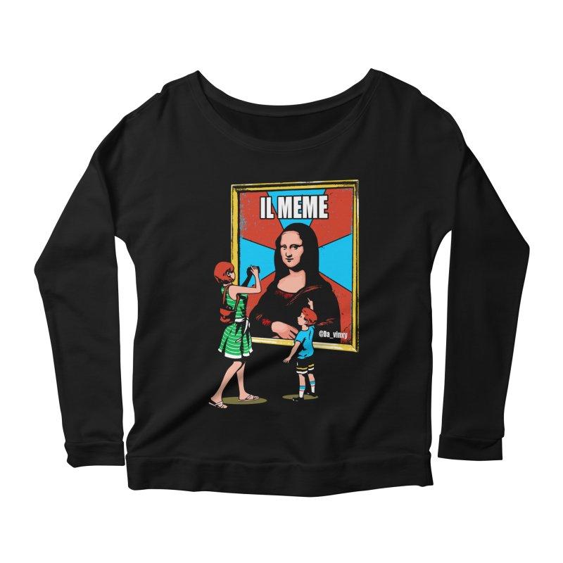 Il Meme Women's Scoop Neck Longsleeve T-Shirt by Santiago Sarquis's Artist Shop