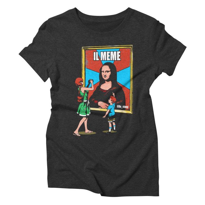 Il Meme Women's Triblend T-Shirt by Santiago Sarquis's Artist Shop