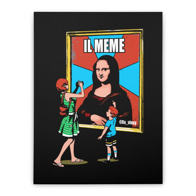Il Meme Home Stretched Canvas by Santiago Sarquis's Artist Shop