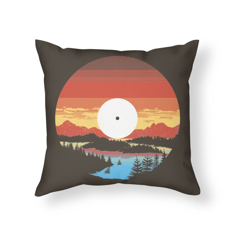 1973 Home Throw Pillow by Santiago Sarquis's Artist Shop